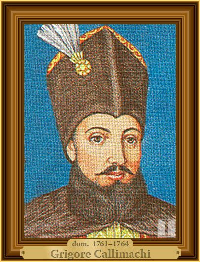 Grigore Callimachi, domn al Moldovei
